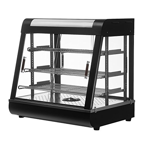 SUNCOO 26'' Commercial Countertop Food Warmer Display Case for Restaurant Heated Cabinet Pizza Empanda Pastry Patty by SUNCOO