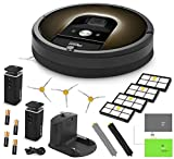 iRobot Roomba 980 Vacuum Cleaning Robot + 2 Dual Mode Virtual Wall Barriers (With Batteries) + 3 Extra Side Brushes + 4 Extra High Efficiency Filters + A Set Of AeroForce Extractors + More