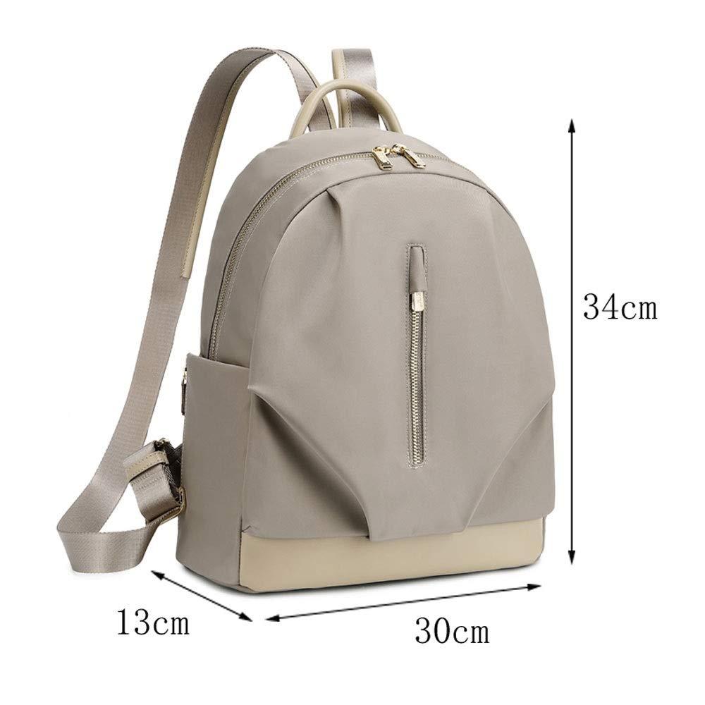 ZJDECR Oxfordtyg ryggsäck kvinna stor kapacitet koreansk student vardaglig ryggsäck vild mode lätt väska ryggsäck (färg: Aprikos) Aprikos