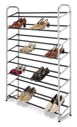 - Whitmor 8 Tier Shoe Tower - 40 Pair - With Non-Slip Racks