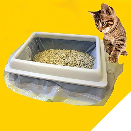 Amyove 1 Bolsa de (7PCS), Bolsa para retrete de Gato, Bolsa Resistente para Caca de Mascota, Cat Litter Bag Kitten Hygienic...