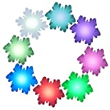 Snowflake Led Lights, Rechargeable Snowflake Shape Wall Light with Remtrol 16 RGB Color Changing Snowflake Night Light Table Lamp Ideal for House Yard Bedroom Patio Decor Lighting