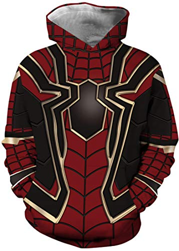 Bettydom Children's Fashion Hoodies Christmas Hoodies Sweatshirt Pullover for Boys and Girls(M,A-spider-40)