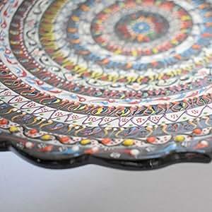 "Handmade 12"" Turkish platter"