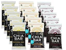 Health Warrior Chia VJpNq Bars, 5 Dark Chocolate Cherry, 5 Chocolate Peanut Butter, 5 Banana Nut, 13.2-Ounce (Pack of 15) EbAKS