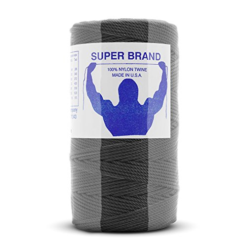 - Tarred (Black) Nylon Twine, Twisted. Size #36, 1/4 lb 1-pack