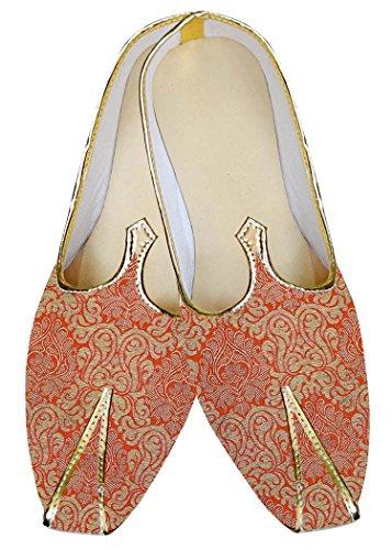 INMONARCH Hombres Boda Zapatos Ropa de Fiesta Naranja MJ014843