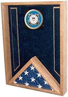 product image for flag connections Navy Flag Display Case, Flag Shadow Box