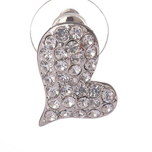 La Modeuse - Boucles d'oreilles composées d'une boucle à puce et d'une grande boucle pendante