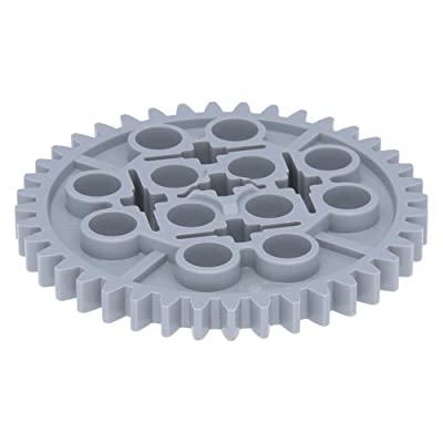 5 x LEGO® Technic, Gear 40 Tooth Light Bluish Gray: Juguetes y juegos