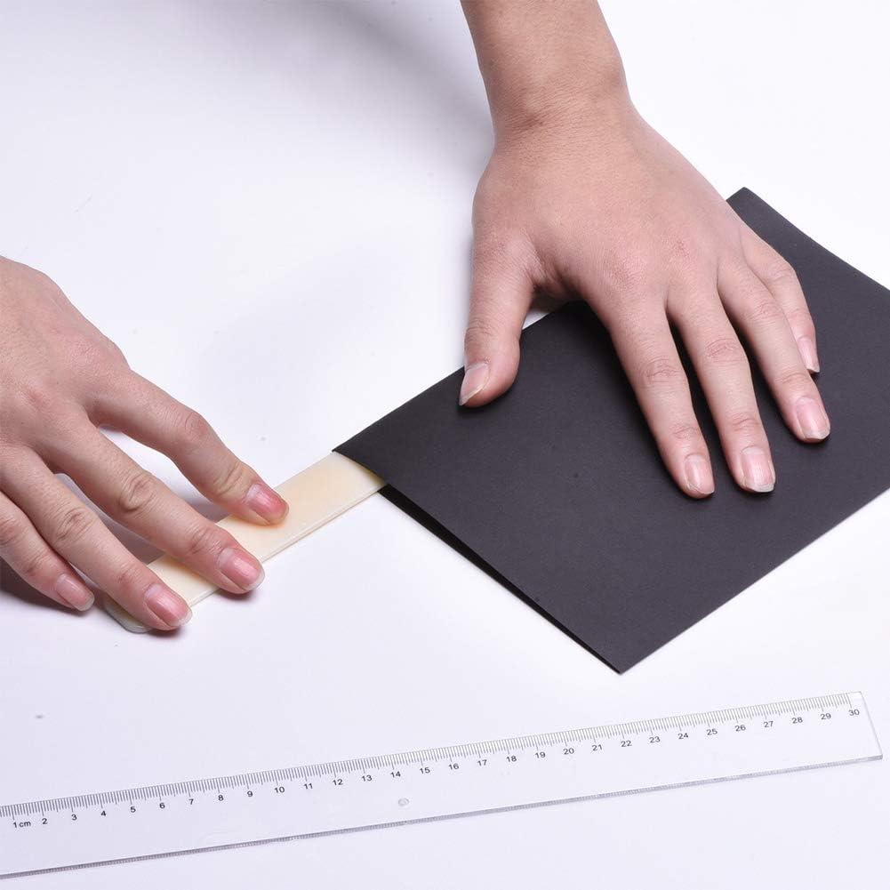 6 Pollici Pieghevol Genuino Cartella per Le Ossa Cartella autentica Aprilettere Tagliacarte per Carta Strumento Origami per la Rilegatura di Carte Creazione di Un Fai-da-Te in Pelle Fai-da-Te
