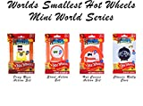 Worlds Smallest Hot Wheels Mini World Complete Collection. Includes Drag Race, Hot Curves & Stunt Action Sets & Classic Rally Case. Collection Includes 5 Exclusive Hot Wheels Cars!
