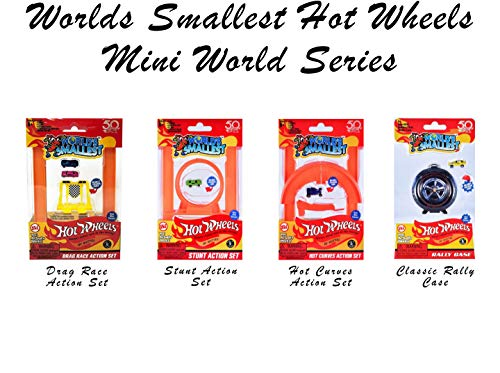 Worlds Smallest Hot Wheels Mini World Complete Collection. Includes Drag Race, Hot Curves & Stunt Action Sets & Classic Rally Case. Collection Includes 5 Exclusive Hot Wheels Cars! by Worlds Smallest (Image #5)