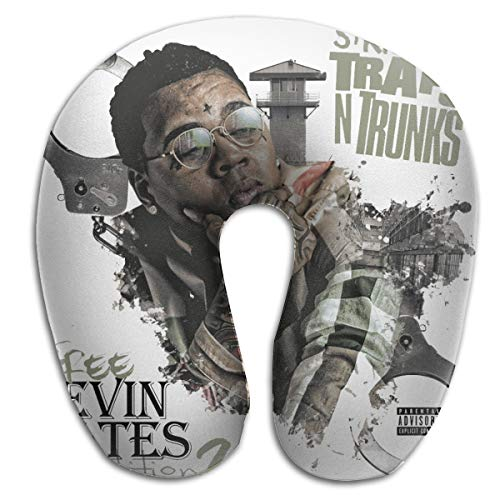 Corashopping Kevin Gates Men,Women Classic Portable U-Shaped Pillow Single Nap Pillow Memory Cotton, Aircraft Train Pillow Cervical Pillow, Cute Pillow (Kevin Gates Post To Be In Love)
