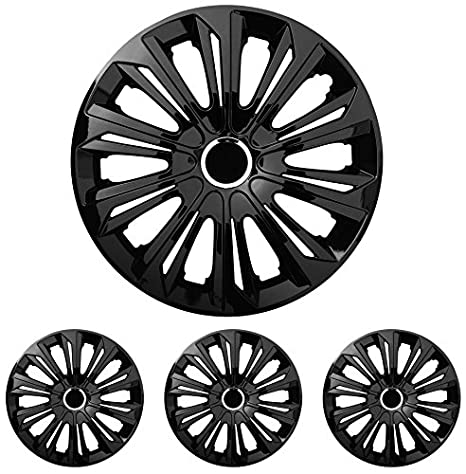 Tapacubos – Tapacubos Tapacubos Strong negro 15 pulgadas 15 R15 Peugeot 106, 107,