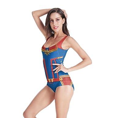 QWEASZER Avengers: Endgame, traje de baño de Captain Marvel ...