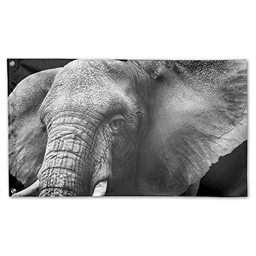 "Nicokee Elephant Head Home Garden Yard Flags 59""x35"" Polyest"