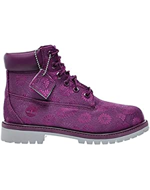 6 Inch Classic Big Kids Boots Magenta Floral tb0a174b