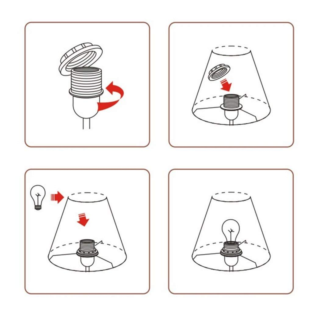 Amazon.com: ChuanHan Ceiling Fan Light Chandelier Lightings Table Lamp Bedside Table Cute Umbrella Cloth Cover Indoor Bedroom Resin Button Switch 60W E27: ...