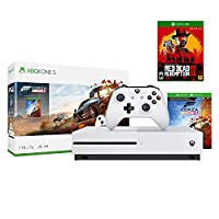 Microsoft Xbox One S 1TB/2TB Red Dead Forza Horizon 4 Bonus Bundle: Red Dead Redemption 2, Forza Horizon 4, Xbox Wireless Controller, Xbox One S 4K HDR Console - White