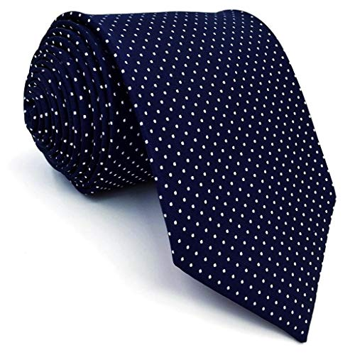 Dot Long Tie - SHLAX&WING Dots Blue Navy Mens Neckties Ties for Men Extra Long 63 inches