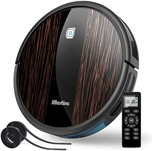 Robot Vacuum Cleaner iMartine R3500A 2000Pa Super-Strong Suction Automatic Cleaner Self-Charging Robovac for Cleaning Hardwood Floors, Short-Pile Carpets, Pet Hair,Virtual Boundary Supported