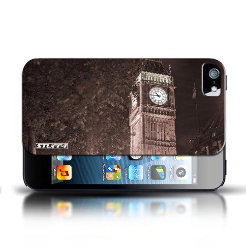 Etui / Coque pour Apple iPhone 5/5S / Big Ben Sepia conception / Collection de Londres Angleterre