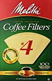 Cheap Melitta Cone Coffee Filters, Natural Brown, No. 4, 100-Count Filters (Pack of 12)