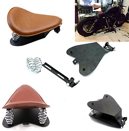 Brown SOLO Seat Bracket Spring Base Mount Kit Barrel Spring For Harley Sportster Chopper Bobber Custom Dyna