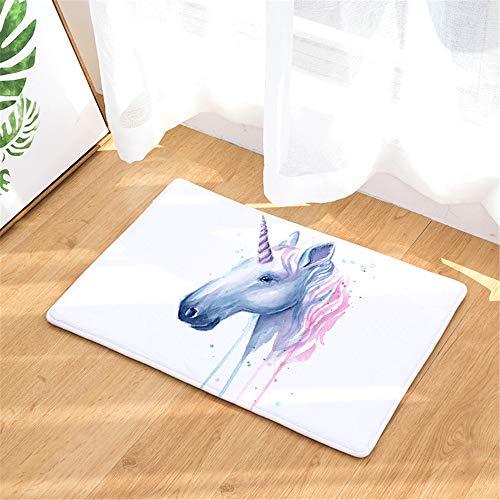 (ATOLY Rainbow Unicorn Door Mat, Mat Carpet Indoor/Outdoor/Front Door/Bathroom Mat Flange Slip)