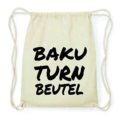 JOllify BAKU Hipster Turnbeutel Tasche Rucksack aus Baumwolle - Farbe: natur Design: Turnbeutel
