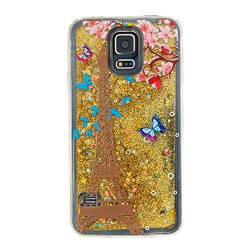 Para Samsung Galaxy S5/i9600móvil, 3d fließen líquido para trucha, arenas movedizas estrella Bling Lujo Shiny brillo Sparkle Cristal Crystal Multicolor de amor diseño Satisfacción Bolsa Funda Para Sa 3