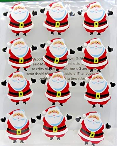 Santa Claus 12 ea Foam Dimensional Stickers 2