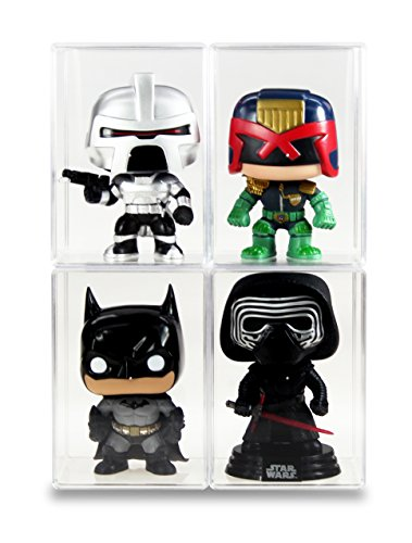 Set of 4 hard plastic boxes - Out of the box Funko Pop Crystal Clear Display Cases Protector