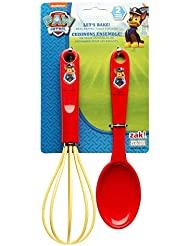 Zak Designs Lets Bake! Whisk and Spoon for Cooking with Kids, Paw Patrol Chase