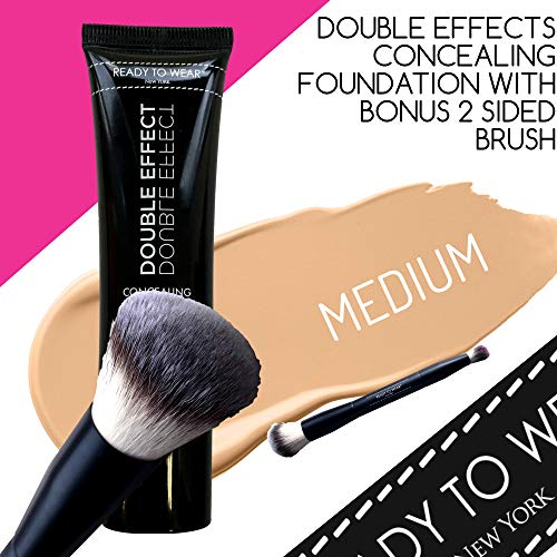 Ready To Wear DOUBLE EFFECT Concealing Foundation Made In Italy (MEDIUM)