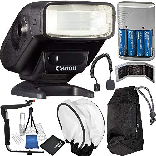 Canon Speedlite 270EX II with Manufacturer Accessories and Accessory Kit - Compatible with Most EOS, EOS Rebel and PowerShot Cameras