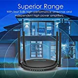 1200Mbps Smart WiFi Router, WAVLINK AC1200 Dual-Band Gigabit Ethernet Router 5Ghz + 2.4Ghz Gaming WiFi Router High Speed Wireless WiFi Box with Long Range for Gaming Xbox Playstation PC