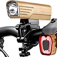 BX-1200 Bike Lights Front and Back Set Rechargeable USB Type-C True 1200 Lumens Performance Bicycle Headlight