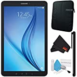Samsung 16GB Galaxy Tab E 9.6 Wi-Fi Tablet (Black) SM-T560NZKUXAR + Deluxe Cleaning Kit + MicroFiber Cloth + Universal Stylus for Tablets + Tablet Neoprene Sleeve 10.1 Case (Black) Bundle