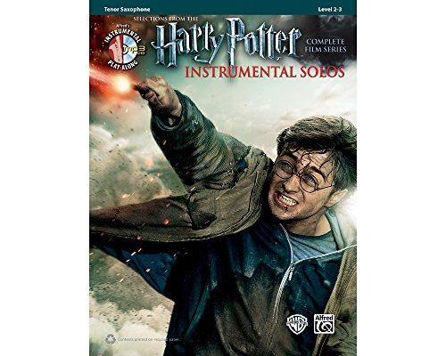 Alfred Harry Potter Instrumental Solos for Tenor Sax - Book/CD (Tenor Music Alfred Sheet)