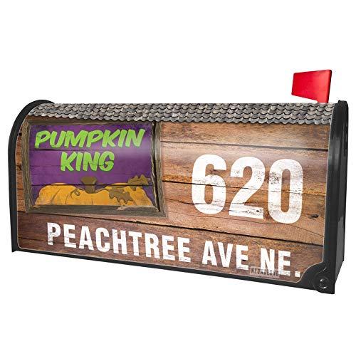 NEONBLOND Custom Mailbox Cover Pumpkin King Halloween Pumpkin Top