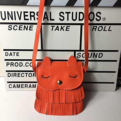 Shoulder Cat Children Orange Coin Cross Gifts for Mini Bag Girls Day Birthday Orange Kids Daliuing Children Tassel Bag Cute Purse UaAxvwqv