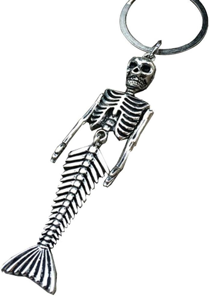 Charm Christmas Pendant Pendant Key Chain Skeleton Vintage Mermaid Skeleton