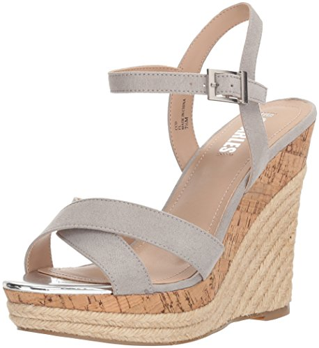 Style by Charles David Women's Annex Wedge Sandal, Light Grey, 7 M US