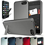 Fire Phone Case, CINEYO(TM) heavy Duty Rugged Hybrid Tri Layer Armor Case with Kickstand (Amazon Fire Phone Case) (Grey)