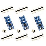 for Arduino Nano V3.0, ELEGOO Nano Board CH340/ATmega328P, Compatible with Arduino Nano V3.0 (Pack of 3 Without Mini USB Cable)