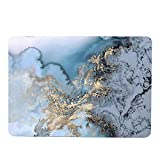 MacBook Pro 13 Inch 2016 2017 2018 Release, Funut Rubber Coated Glossy Plastic Hard Case Shell Fashion Style for MacBook Pro 13 Inch 2016 2017 2018 Release A1706 A1708, Watercolour of Marble