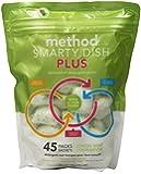 Method Smarty Dish Dishwasher Plus Tablets, Lemon Mint, 45 Count