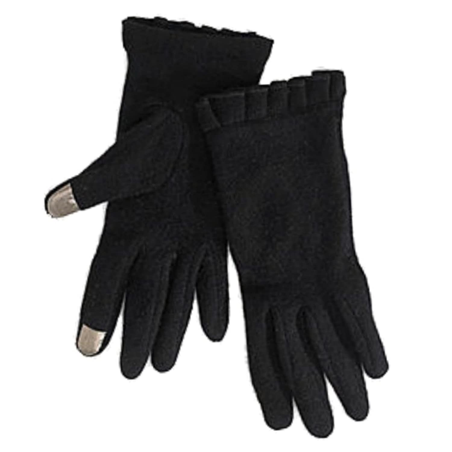 Driving texting gloves - Runway Womens Black Ruffled Texting Gloves Sleek Winter Driving Iphone Gloves On Sale